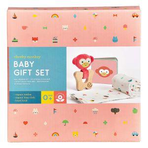 Petit Collage Little Monkey Gift Set Red 21x21x5cm