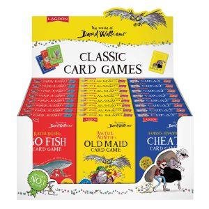 Lagoon David Walliams - Classic Card Games  assorted Go Fish, Cheat & Old maid.