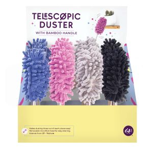IS GIFT Telescopic Duster  assorted lilac, grey, blue & black