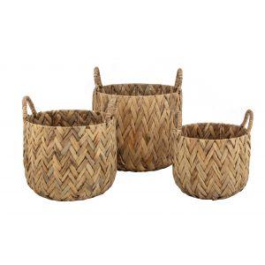 Amalfi Andaz Baskets Set/3 Natural 30x30x25cm/35x35x30cm/40x40x35cm