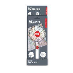 Kikkerland 2 in 1 Magnifier  Grey