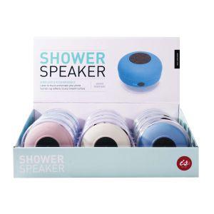 IS GIFT Wireless Shower Speaker Pastel  assorted white, green, blue & pink