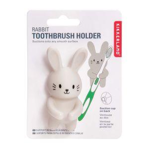 Kikkerland Rabbit Toothbrush Holder White