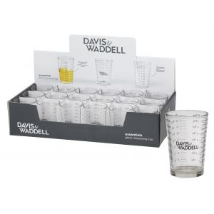 Davis & Waddell Glass Measuring Cup Clear 6x6x8.5cm/120ml Liquids/8 Tablespoons