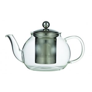 Leaf & Bean Camellia Teapot with Filter Clear/Stainless Steel 21x12.5x12.5cm/4 cup/800ml