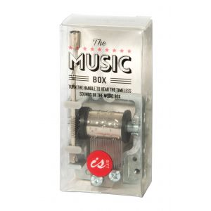 Is Gift Music Box - Over The Rainbow Silver 8x4x2.5cm