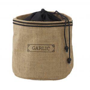 Davis & Waddell Garlic Sack Natural/Black 14x14x15cm