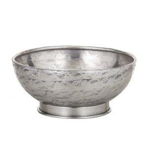 Davis & Waddell Ravi Footed Serving Bowl Antique Silver 20x20x9.5cm