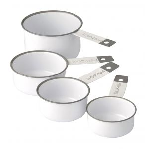 Academy Austen Measuring Cup Set 4pce White/Grey 1/4 Cup/1/3 Cup/1/2 Cup/1 Cup