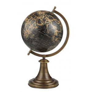 Amalfi Columbus Globe Beige/Antique Gold 38cm