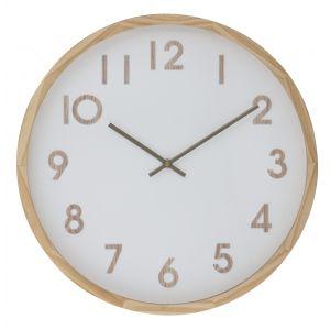 Amalfi Leonard Wall Clock Natural/White 41.5x41.5x5.5cm