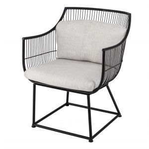 Amalfi Fabien Chair Black/Light Grey 66x77x85cm