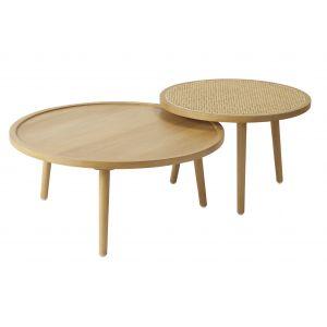 Amalfi Santali Tables Set/2 (KD) Natural 60x60x40cm/80x80x35cm