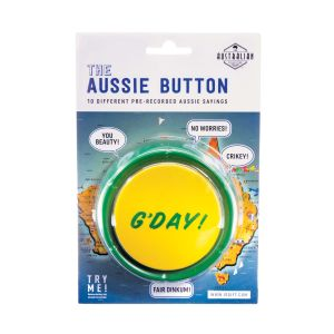 The Australian Collection Aussie Button  Multicoloured 10 pre-recorded Aussie sayings
