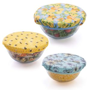 IS GIFT Breathable Cotton Bowl Covers – Bees assorted Set of 3. Designed in Australia