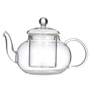 Leaf & Bean Chrysanthemum Teapot with Filter Clear 18x11x12cm/3 cup/600ml