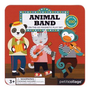 Petit Collage Animal Band Magnetic Play Set Multi-Coloured 16.5x16.5x2.5cm