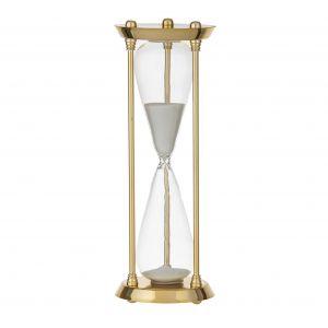 Amalfi Regency Hourglass 30 Minutes Gold/Clear/White 10x10x30cm