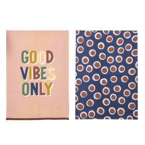 Good Vibes Tea Towel Set/2 AMTTEM006