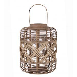 Amalfi Healey Lantern Natural 31.5x31.5x42cm
