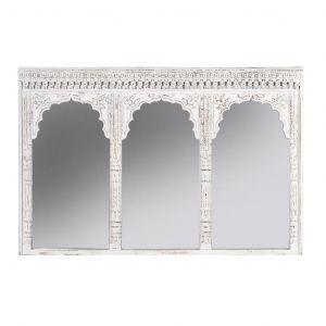 Amalfi Basanti Mirror White Washed 120x100x90cm