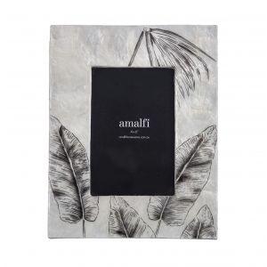 "Amalfi Edvin 4x6"" Photo Frame Black/White 19x24x2cm"
