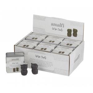 Amalfi Wise Owls Set/2 Rustic Brown 4x7cm