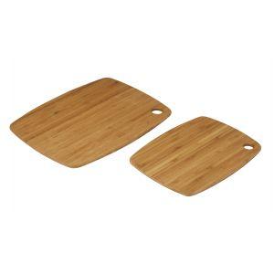 MasterPro Tri-Ply Bamboo Utility Board Set 2pce Natural 27x20x1cm/34x25x1cm