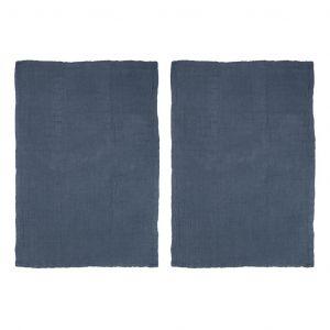 Davis & Waddell Milpa Double Cloth Tea Towel Set/2 Navy 50x70cm