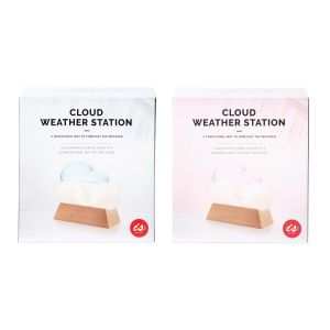 IS GIFT Cloud Weather Station Coloured   assorted Pastel blue & pastel pink