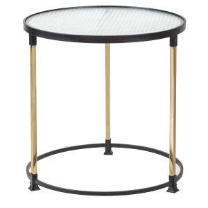 Amalfi Vivid Coffee Table Black/Gold/Clear 61.5x61x49cm
