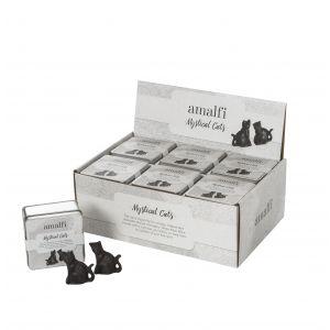 Amalfi Mystical Cats Set/2 Rustic Brown 4x7cm