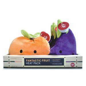 Is Gift Fantastic Fruit Heat Pack (2Asst/8Disp) Assorted EGGPLANT: 21x13x7cm PEACH: 19.5x18x7cm