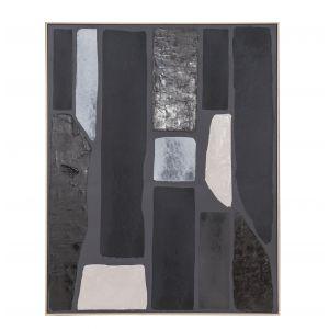 Amalfi Cole Wall Décor Black/White 80x5x100cm