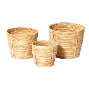 Rogue Ishika Basket Set/3 Natural 14/17/20cm