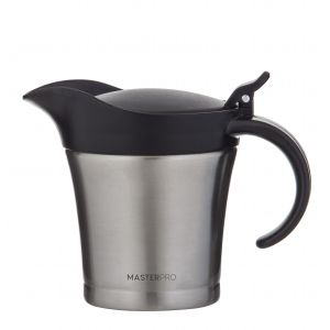 MasterPro Deluxe Double Walled Thermal Jug 11x8.5x14cm/480ml Stainless Steel/Black
