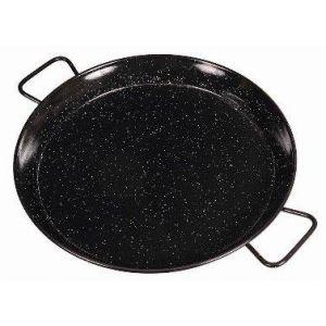 Garcima Enamel Paella Pan Black 50x40x6cm/D40cm/Feeds 6-8
