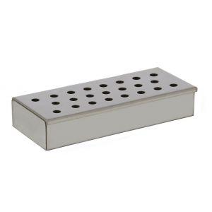 Davis & Waddell Woodchip Smoker Box Stainless Steel 24x10x4.5cm