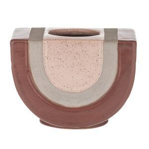 Amalfi Ebele Vessel Rose/Grey/Dusty Pink 14x10x10.5cm