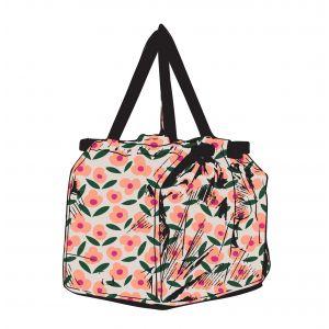 Davis & Waddell Sala Shopping Trolley Bag with Insulated Pocket Flower 48x32x34cm/Folded 36x5x10cm