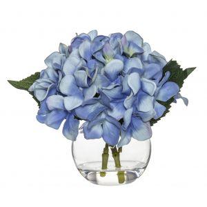 Rogue Hydrangea-Sphere Vase Bright Blue/Glass 23x20x18cm