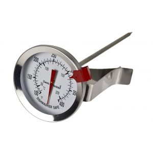 Davis & Waddell Candy/Deep Fry Thermometer Stainless Steel/Glass 5x5x13cm/Temp Range 50°C to 200°C