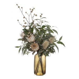 ROGUE Black Label (RB) Protea Mix-Anastasia Tall Vase Cream/Smokey Green 65x45x100cm
