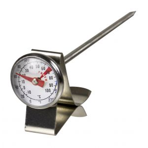 Davis & Waddell Milk Frothing Thermometer Stainless Steel/Glass 2.5x2.5x13.5cm/Temp Range -10°C to 100°C