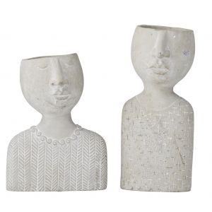 Rogue Emilie & Emile Set/2 Grey 28/33cm