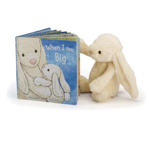 Jellycat When I Am Big Book (Matches Bashful Cream Bunny) Multi-Coloured 21x21x2cm