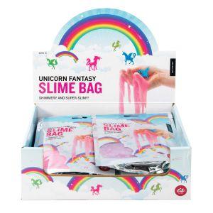 Is Gift Slime Bag - Unicorn Fantasy (2Asst/12Disp) Assorted 17.2x13x2cm