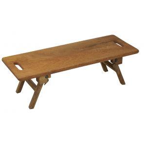 Davis & Waddell Landstead Collapsible Mango Wood Rectangular Board Natural 65x25x6cm/Legs Extended 65x25x20cm