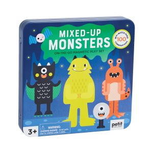 Petit Collage Mix + Match Monsters Magnetic Play Set Multi-Coloured 16.5x16.5x2.5cm