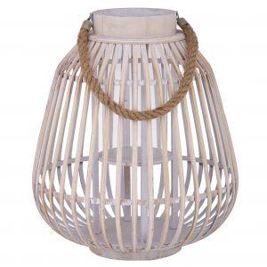 Amalfi Tarma Lantern White Wash 38x38x44cm